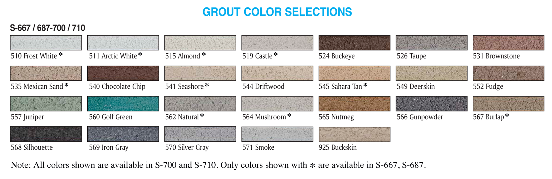 S720 Precision Color Sanded Grout